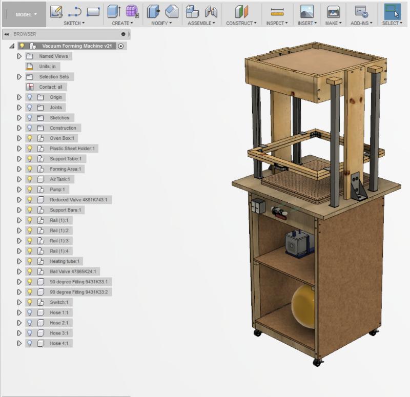 Fusion360 Design Files For Vacuum Forming Machine